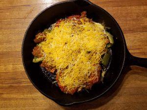 cheese topped nachos