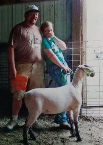 Amanda & Dave laughing lamb