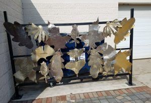 Metal Leaf Fence