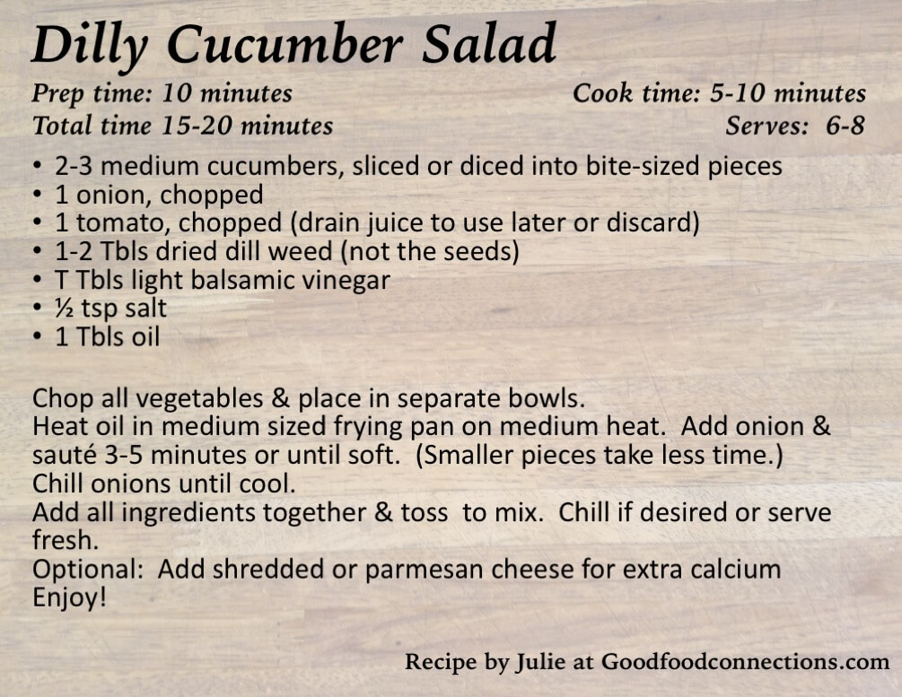Dilly Cucumber Salad recipe