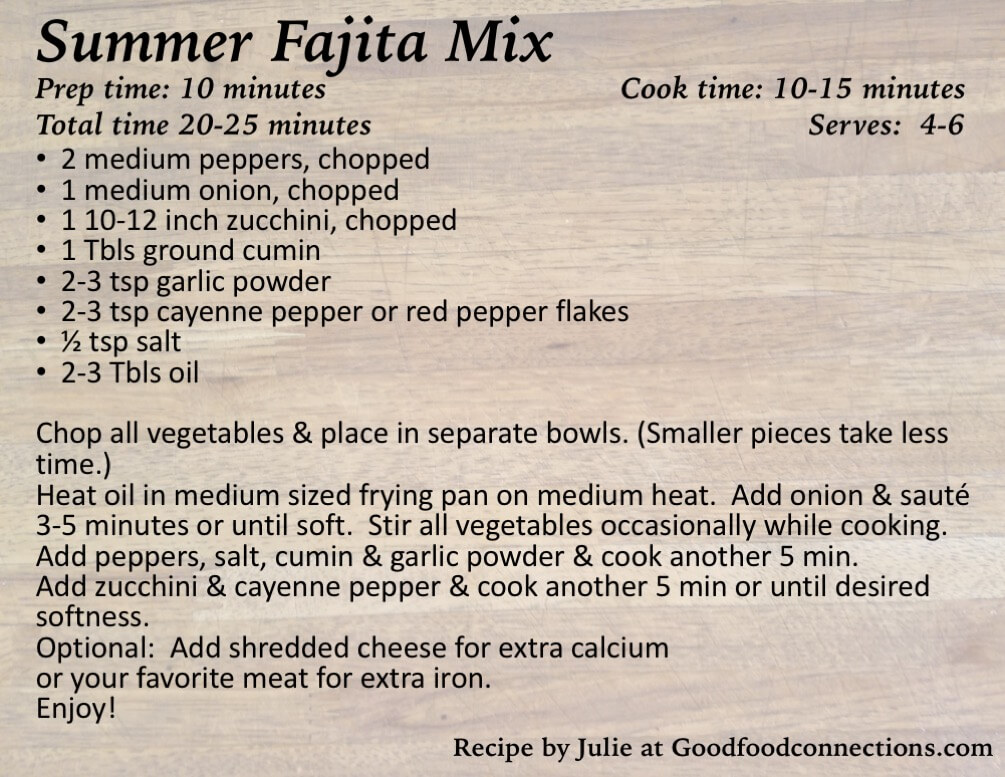Summer Fajita Mix Recipe