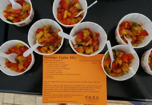 Summer fajita mix samples with recipe