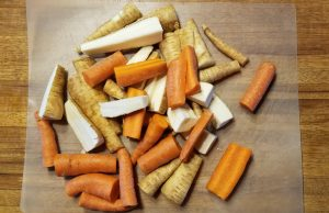 Carrot and parsnip sticks