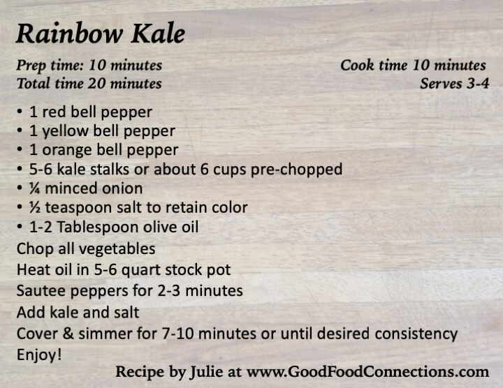 Rainbow kale recipe